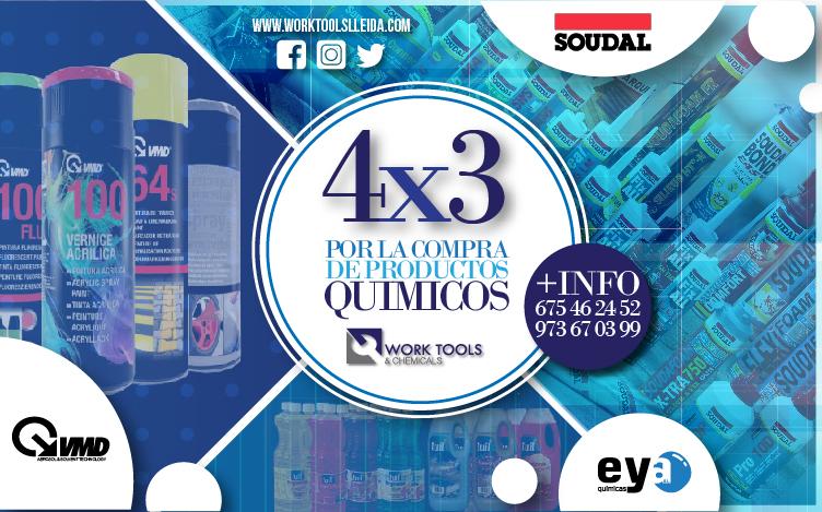 4×3 POR LA COMPRA DE PRODUCTOS QUÍMICOS